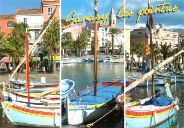 Sanary Les Pointus postcard
